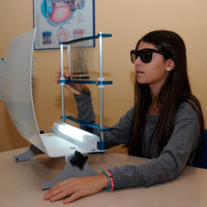 Terapia Visual, algunas imagenes de los ejercicios realizados durante el tratamiento
